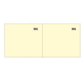 Blocco scontrino a 2 sezioni giallo 100copie numer. 5,8X13cm SE160000030 SEMPER (Conf. 50)