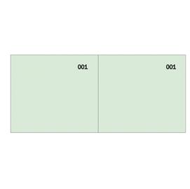 Blocco scontrino a 2 sezioni verde 100copie numer. 5,8X13cm SE160000040 SEMPER (Conf. 50)