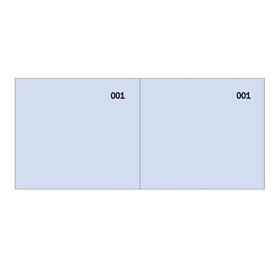 Blocco scontrino a 2 sezioni blu 100copie numer. 5,8X13cm SE160000090 SEMPER (Conf. 50)