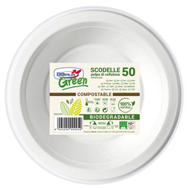 50 Scodelle Ø176mm biodegradabili Dopla Green