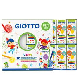 Set 10 astucci da 4 pastelli a cera Party Gifts Giotto (Conf. 10)