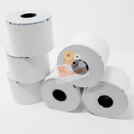 Rotolo bilancia in carta termica adesiva BPA free 62,5mm x 18mt foro 18mm (Conf. 5)