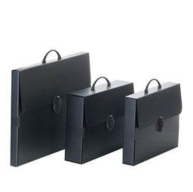 Valigetta polionda Every Line Total Black 36,5x56,5cm dorso 5,5cm Balmar
