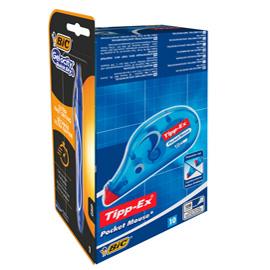 Promo box 10 correttore a nastro Pocket Mouse Tipp-Ex +1 Gelocity quickDry Bic