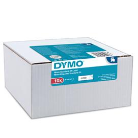 Value Pack 10 Nastri Dymo Tipo D1 (19mmX7mt) nero/bianco S0720830