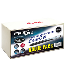 Valuepack 20+4 roller ENERGel Slim BL437 nero 0.7mm Pentel