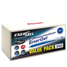 Valuepack 20+4 roller ENERGel Slim BL437 blu 0.7mm Pentel