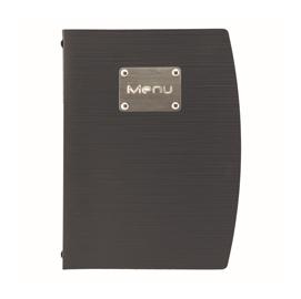 PortamenU' A5-18x23,5cm Nero RIO con 1 INSERTO DOPPIO