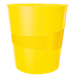 Cestino gettacarte WOW giallo 15LT LEITZ