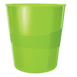 Cestino gettacarte WOW verde lime 15LT LEITZ