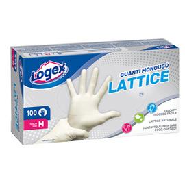 Scatola da 100 guanti monouso in lattice Tg. L Logex