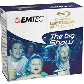BD-RE EMTEC 25GB 1-2x JEWEL CASE GIFBOX (kit 5pz)