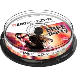 CD-R EMTEC 80MIN/700MB 52x SPINDLE (kit 10pz)