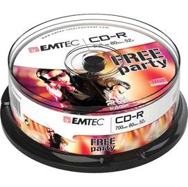 CD-R EMTEC 80MIN/700MB 52x SPINDLE (kit 25pz)