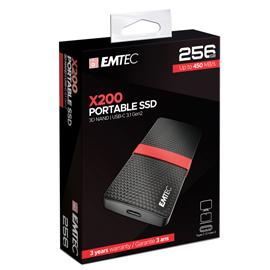 Emtec SSD 3.1 Gen2 X200 256 GB Portable