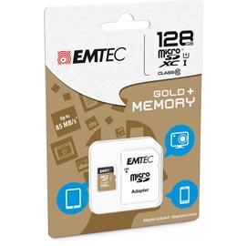 MICRO SDXC EMTEC 128GB CLASS 10 GOLD + CON ADATTATORE