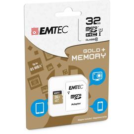 MICRO SDHC EMTEC 32GB GOLD + CON ADATTATORE