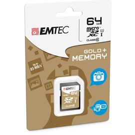 SDXC EMTEC 64GB CLASS 10 GOLD +