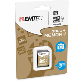 SDHC EMTEC 8GB CLASS 10 GOLD PLUS