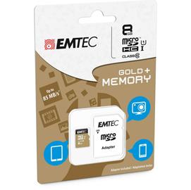 MICRO SDHC EMTEC 8GB CLASS 10 GOLD + CON ADATTATORE