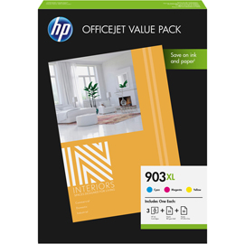 HP 903XL CMY +CARTA SPECIALE 25GG 180GR