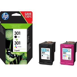 HP 301 INK CARTRIDGE COMBO 2-Pack (NERO+COLORE)