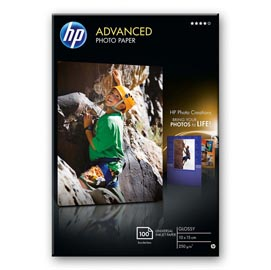 RISMA 25 FG CARTA HP ADVANCED GLOSSY PHOTO PAPER 250 G/M²-10 X 15 CM BORDERLESS