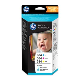 HP 364 SERIES PHOTOSMART PHOTO VALUE PACK 50 SHEETS 10x15 cm