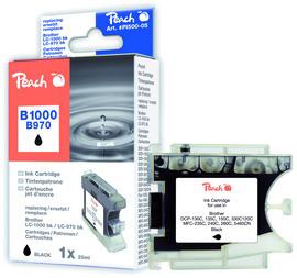 Cartuccia nera per print c/brother lc1000bk lc970bk 20ml