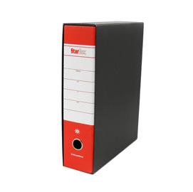 Registratore STARBOX f.to protocollo dorso 8cm rosso STARLINE/sfuso