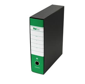 Registratore STARBOX f.to protocollo dorso 8cm verde STARLINE (Conf. 12)