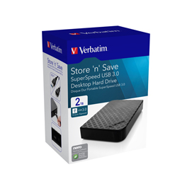 Verbatim HDD esterno 3.5' 2TB USB 3.0
