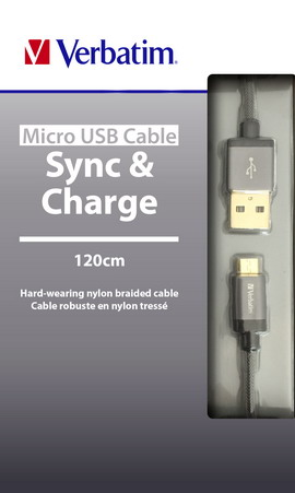 Microusb+lightning cable sync  charge spacegrey 120cm