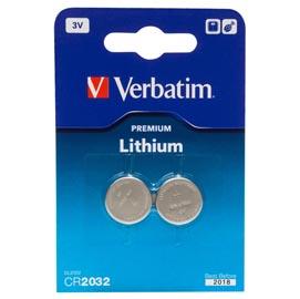 Blister 2 micropile a pastiglia cr2032 litio 3v verbatim