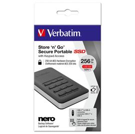 SSD Store 'n' Go Portable con tastierino numerico 256 GB USB 3.1