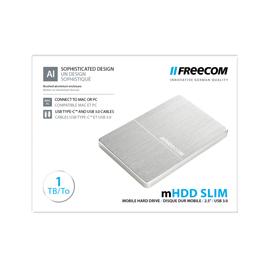 MHDD SLIM MOBILE DRIVE - 1TB USB 3.0-FREECOM Silver