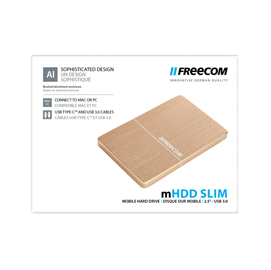 MHDD SLIM MOBILE DRIVE - 1TB USB 3.0-FREECOM GOLD
