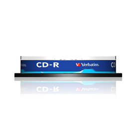 Scatola 10 cd-r datalife spindle 1x-52x 700mb serigrafato crystal